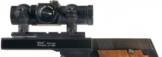 High Standard Clark Custom Model 106 with Red Dot. Photo from icollector.com