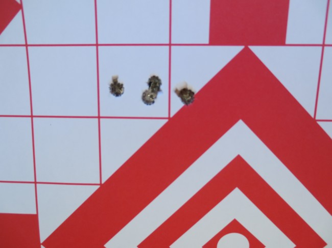 The smallest group at 100 yards. I completely bonked the fifth shot and called it in my book.