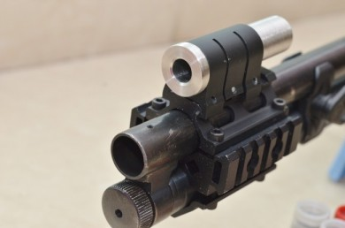 Y-man's new improvised Tube sight Close-up
