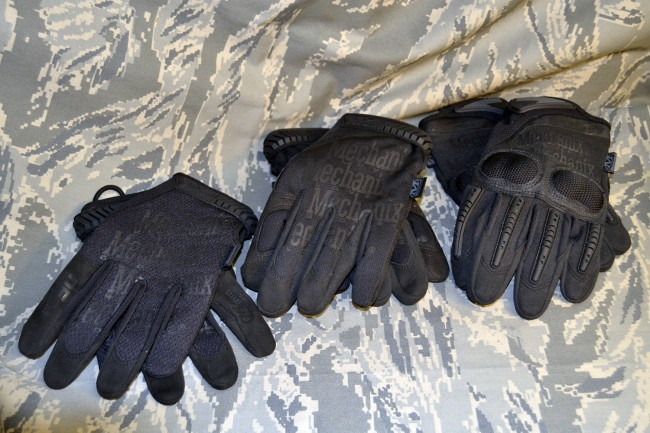 Gloves left to right, Original 0.5mm, Original Insulated and M-Pact 3