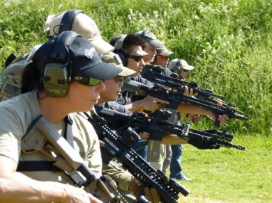 Students getting ready to shoot.