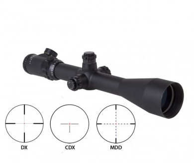 Various reticle options for the Triple-Duty scopes.