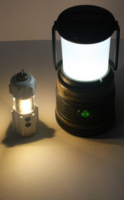 Comparison to Streamlight LED lantern