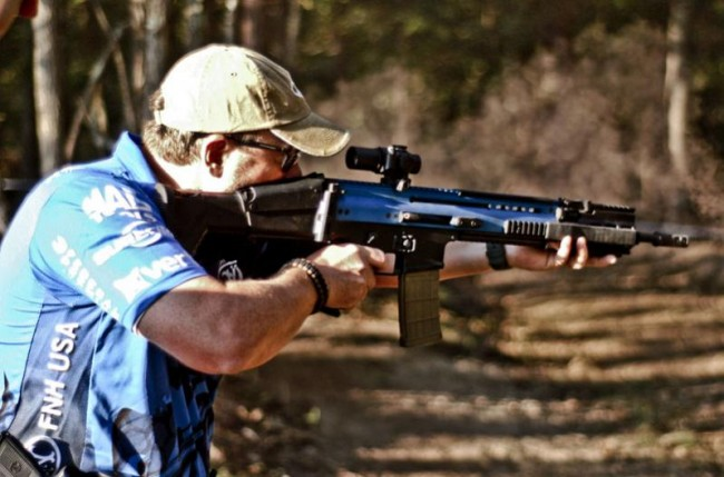 Blue Scar shooting small