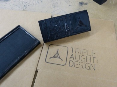 Each box gets hand-stamped TLC.