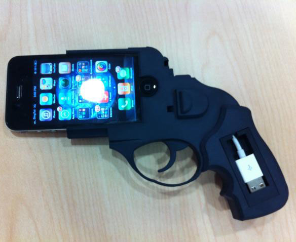 Ruger-Revolver-iPhone-4-Dock