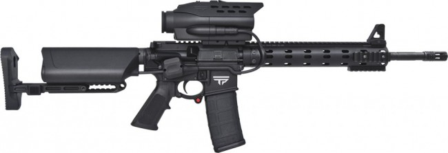 The TrackingPoint AR smart semi-automatic rifle.