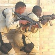 Sudanese Police training in Egypt with Police CZ EVO SMG and CZ pistols.