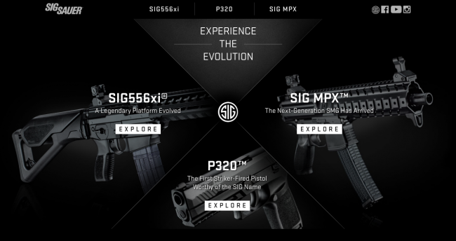 Screenshot of the new SIG micro website