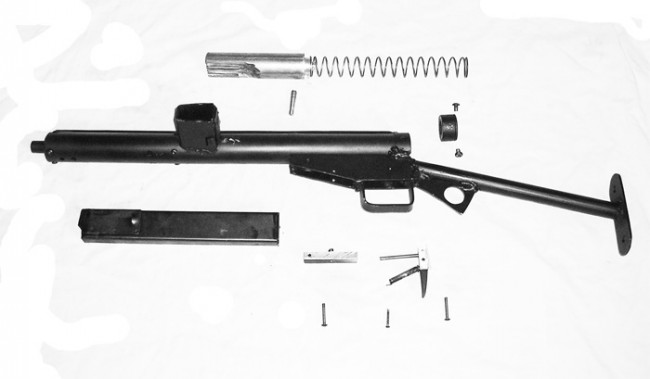 Diy sten gun the firearm blogthe firearm blog heres another design sent in this time for a simplified copy of the classic sten gun as pictured its possible to construct a clone of the original bolt solutioingenieria Image collections