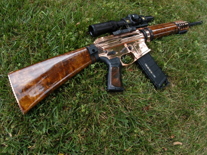 potd copper plated ar 15 built from scratch the firearm blogthe
