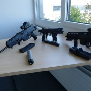 Some B+T product samples in their meeting room