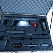 """VP9 """"veterinary pistol"""" case, complete with accessories. All that you need to deal with most any son of an animal"""