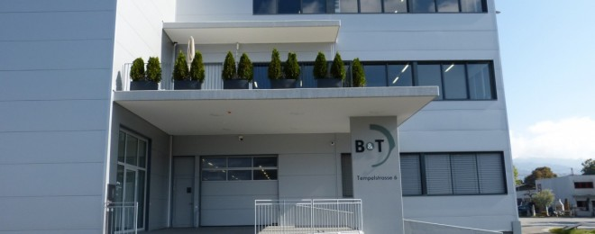 B+T building that hosts their office, manufacturing and storage facilities