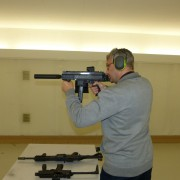 Your truly shooting APC9 semi-auto carbine with B+T suppressor and brass catcher