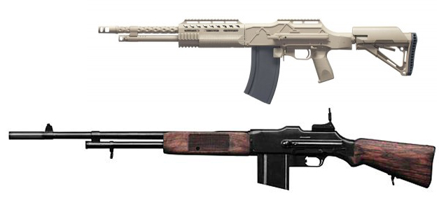 A comparison of the HCAR and original M1918 BAR. HCAR image from OOW and BAR from World.guns.ru