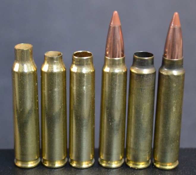 Forming the 6.5 Patriot Combat Cartridge (PCC) from virgin brass.  Image is from rifleshooter.com