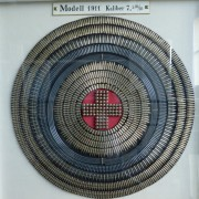 Swiss crest made of ammo components