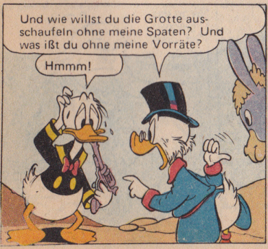 Donald Duck exercising poor gun safety. And no, he doesn't want to kill himself, watch the video to learn the full story.