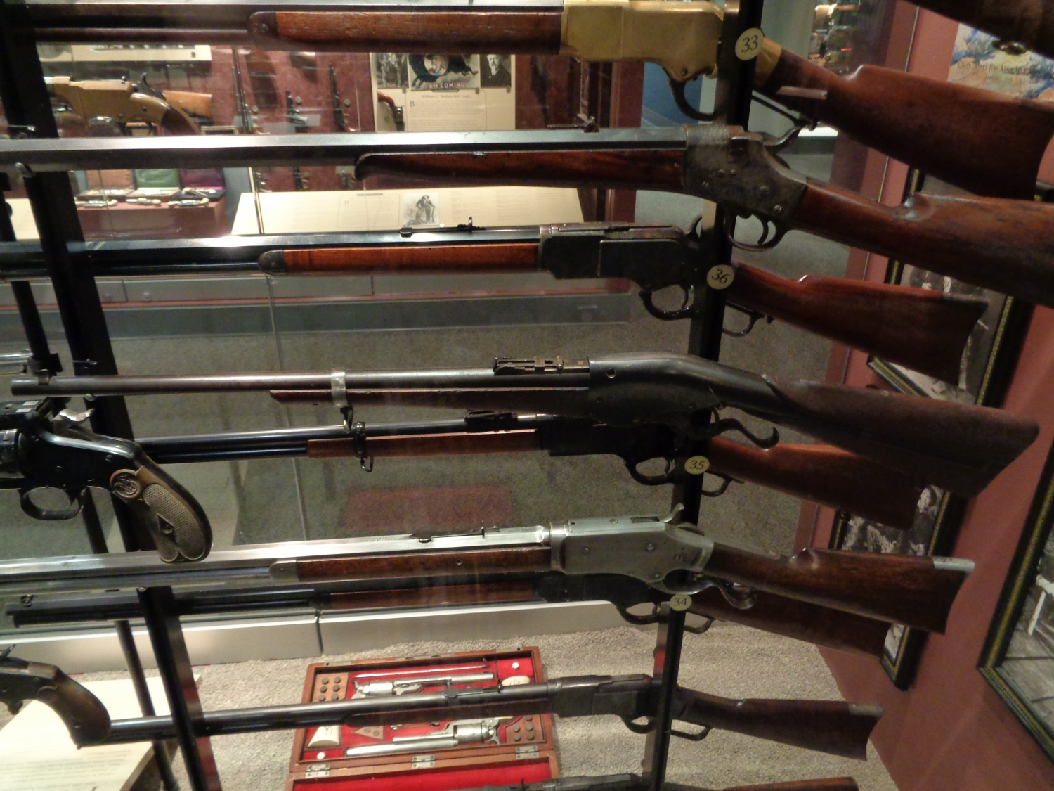 Teddy roosevelt guns to be displayed at nra national - A Significant Section Of The Museum Was Devoted To President Teddy Roosevelt Including This Display Of Guns Owned By The Roosevelt Family Children