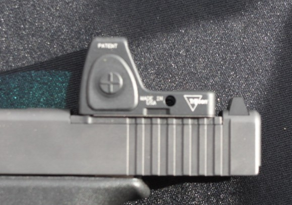 A Glock MOS with Trijicon RMR red dot optic.