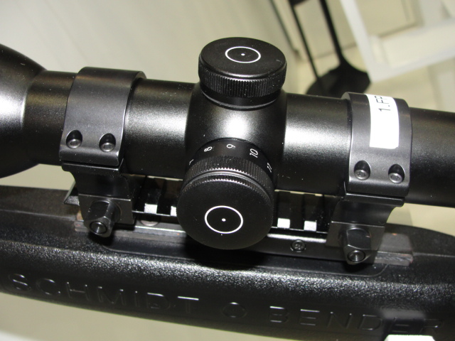 The Polar T96 illuminated reticle adjustment knob.