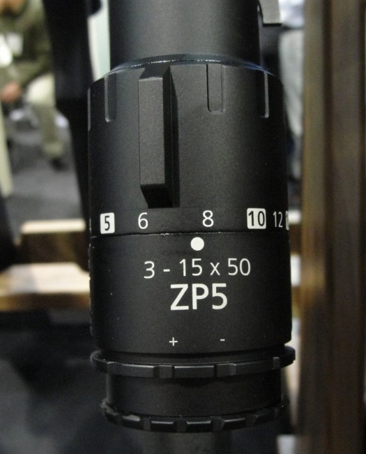 The 3-15x50mm magnification of the ZP5 provides the precision shooter with a great range.