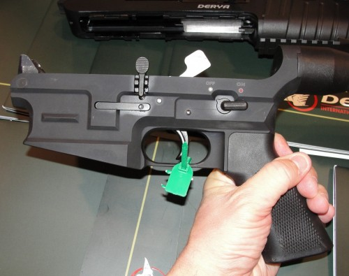 The lower receiver is very similar to AR-style receivers, with only slight modifications.
