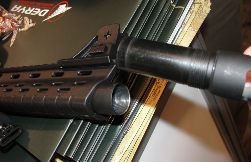 The choke style muzzle pieces are hand screwed just like traditional shotgun chokes