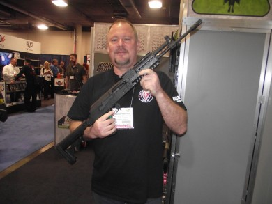 Phoenix rep David Kunstler with a tactical stock in black