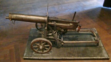 """Maxim gun, Georgian national museum"" by Jonathan Cardy - Own work. Licensed under CC BY-SA 3.0 via Wikimedia Commons - http://commons.wikimedia.org/wiki/File:Maxim_gun,_Georgian_national_museum.JPG#mediaviewer/File:Maxim_gun,_Georgian_national_museum.JPG"