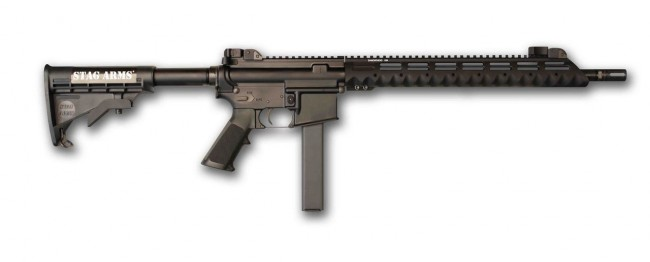 The Stag Arms Model 9T-L configures the fire control and safety features for left-handed shooters.