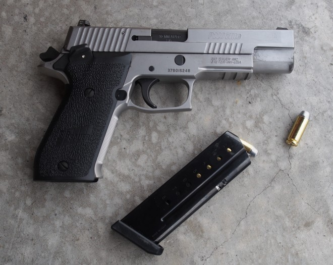 SIG P-220 Elite in 10mm after a lot of shooting.