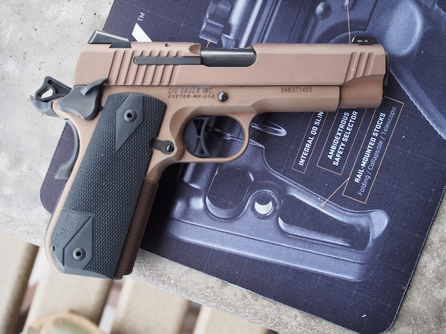 SIG Scorpion in tan.45 acp