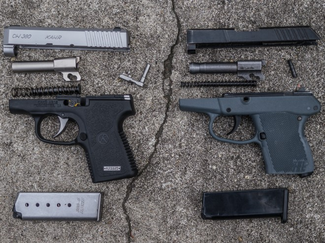 Comparable parts from the Kahr appear to be much more robust than those from the author's (well-used) Kel-Tec.