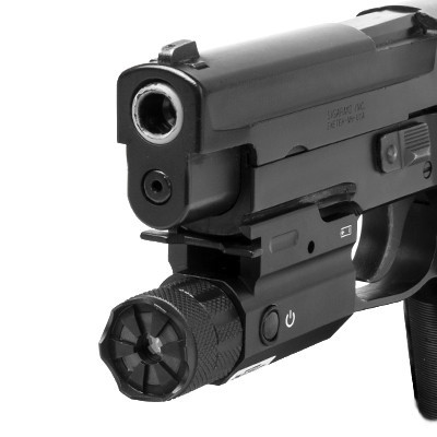 The Compact blue laser has a QD release lever, but only offers an on/off selection.