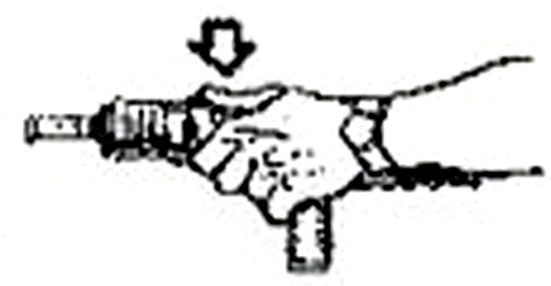 Extended hand