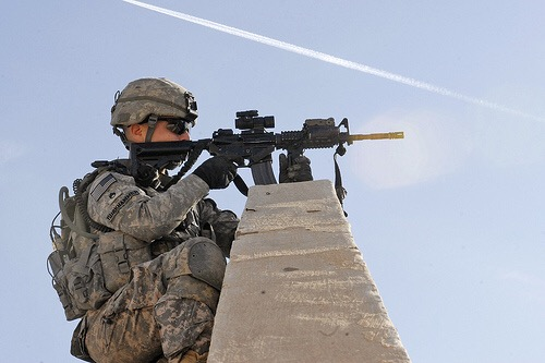 Cavalry Soldiers get a view from above