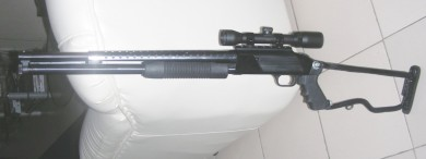 Y-man's Mossberg with scope