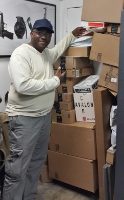 Y-man's mountain of Amazon purchases Dallas Jan 2015