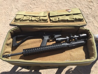 A friend's rifle--yes he knows he needs to move the scope forward... :)