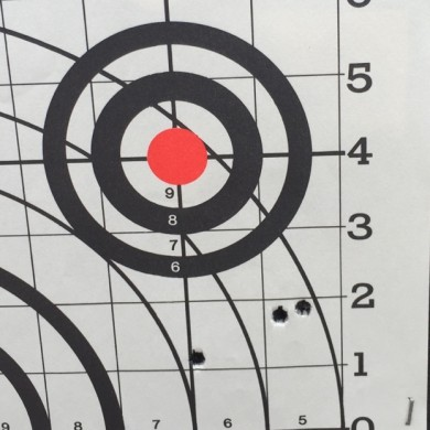 Point of impact was much lower.  The left most shot was poor trigger manipulation.