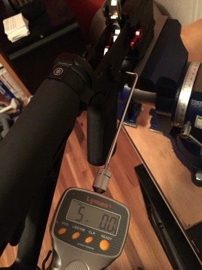 Trigger pull weight of RISE RA-535.