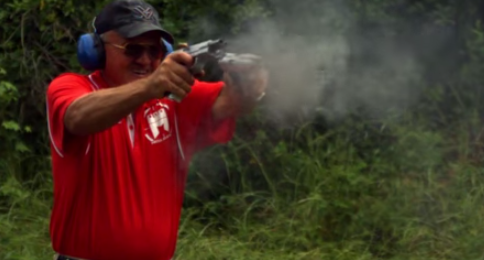 Double Barreled 1911 pistol quad wield rapid fire  20 rounds in 1.5 seconds in SlowMo  AF2011  4K    YouTube