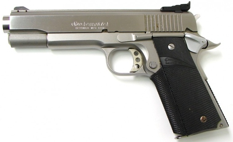 Detonics Scoremaster which came in 45 acp and .451 Detonics