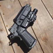 With CCH3 grip, HC11 holster, and Surefire X400