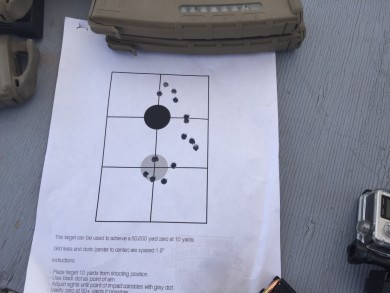 Quick and easy sight in for a short distance shoot.