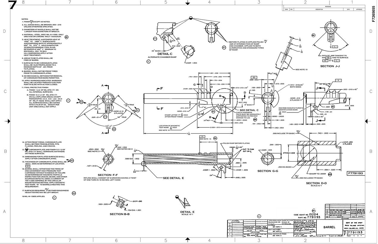 1911 Original Blueprints Gunsmithinfo Com The Firearm