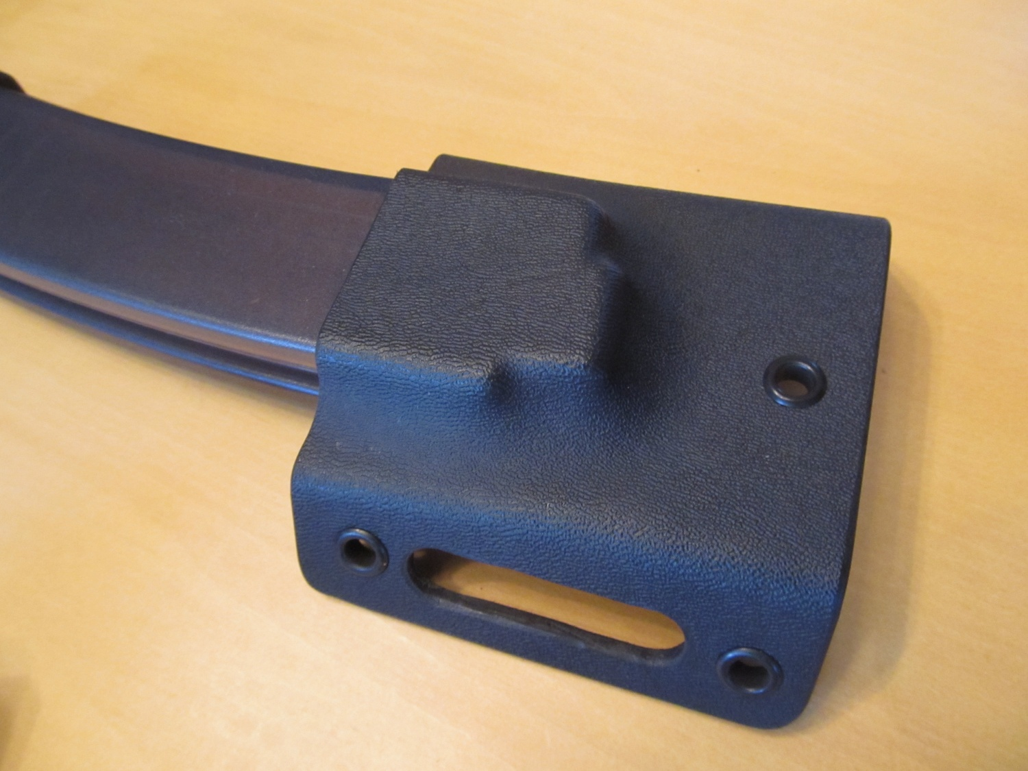 Kydex magazine holder that the firm is working on for Scorpion magazines.