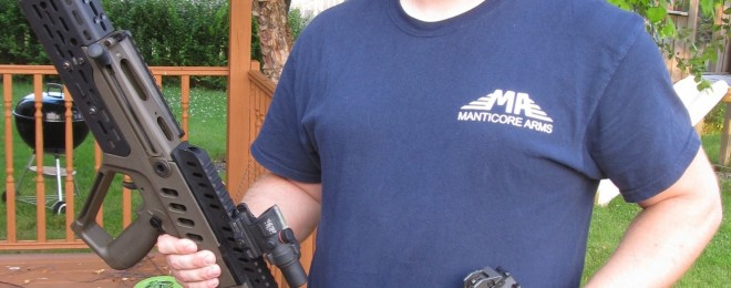 Sven with some of his parts creations for the Tavor, and Scorpion.